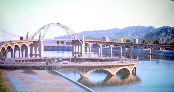 Phương án cầu Phượng Hoàng qua sông Hàn Đà nẵng
