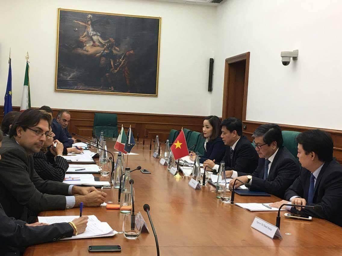 Tăng cường hợp tác giữa Việt Nam và Italia trong lĩnh vực giao thông vận tải