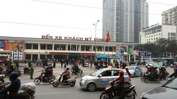 Cấp đổi phù hiệu xe khách điều chuyển tại bến mới Hà Nội