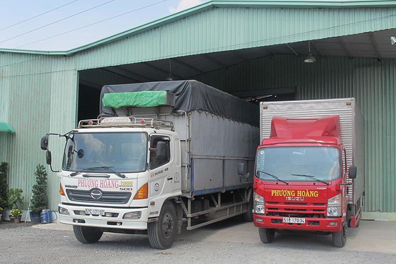 Phượng Hoàng có đội xe mạnh nhiều tải trọng khác nhau để đáp ứng mọi nhu cầu vận chuyển