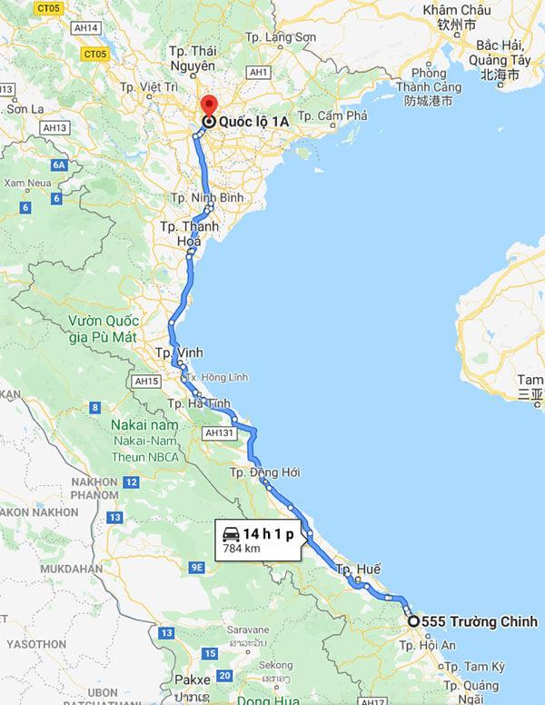 Lộ trình vận chuyển hàng đi Bắc Ninh từ Đà Nẵng