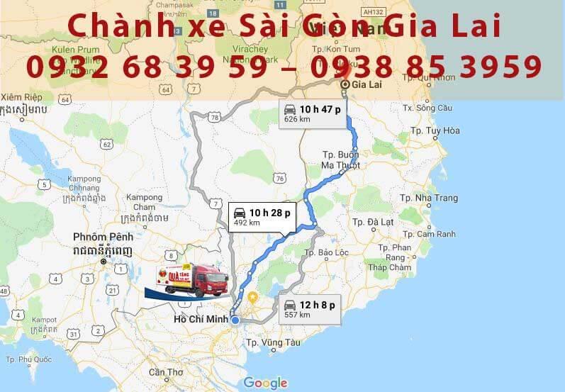 chành xe Sài Gòn Gia Lai